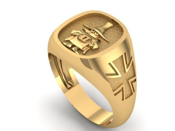 "[:en]""Spook"" Ring Gold 14K/18K Luftwaffe Cross,Polished or Satin finish [:el]Δαχτυλίδι Spooky Phantom Γερμανική Έκδοση, Χρυσό 14Κ/18Κ[:]"
