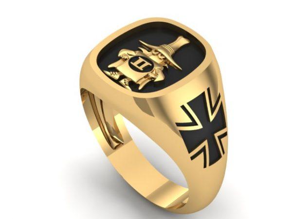 "[:en]""Spook"" Ring Gold 14K/18K Luftwaffe Cross,Black Enamel,Polished or Satin finish[:el]Δαχτυλίδι ""Spook"" Phantom ,Έκδοση Γερμανική σε Χρυσό 14Κ/18Κ[:]"