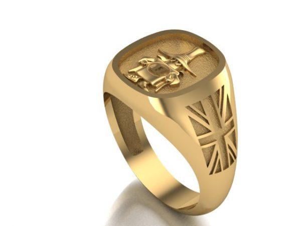 "[:en]""Spook"" Gold Ring 14K/18K, Union Flag, Polished Finish [:el]Δαχτυλίδι ""Spook"" Phantom Αγγλική Έκδοση σε  Χρυσό 14Κ / 18Κ[:]"