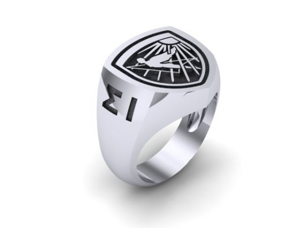 Hellenic Air Force Academy Sterling Silver Ring ( Ikaron)