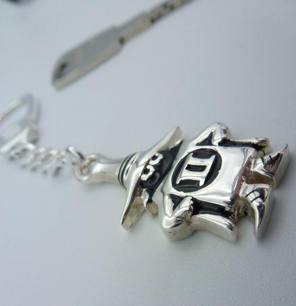 """[:en]Spook Key-chain in Sterling Silver[:el]Ασημένιο Μπρελόκ """"Spook"""" Phantom [:]"""