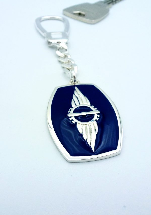 "[:en]STYA / SYD Key-chain in Sterling Silver [:el]Ασημένιο Μπρελόκ ""ΣΤΥΑ / ΣΥΔ"" [:]"