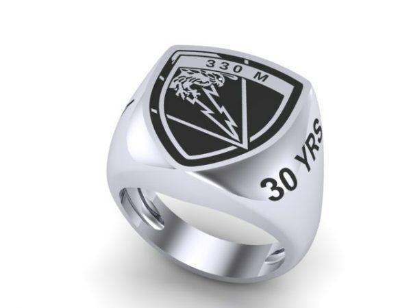 """[:en]""""330 M"""" - 30 YRS Sterling Silver Ring  [:el]330 Μ """"Κεραυνός"""" - 30 YRS [:]"""