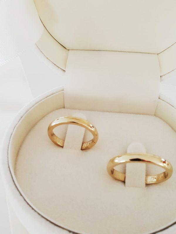 [:en]Wedding Bands, Handmade, Comfort Fit 14K[:el]Χειροποίητες  Βέρες Γάμου 14Κ, Ανατομικές[:]