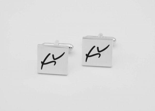 [:en]Sterling Silver Cufflinks  - Custom Made with Logo[:el]Ασημένια Μανικετόκουμπα - Κατά Παραγγελία με Λογότυπο[:]