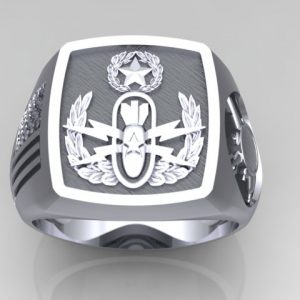 Master EOD Sterling Silver Ring