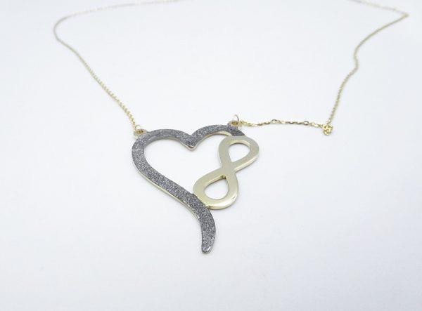 "[:en]14k Yellow Gold ""Infinity Heart"" Pendant Necklace [:el]Χρυσό Μενταγιόν ""Καρδιά & Άπειρο""[:]"