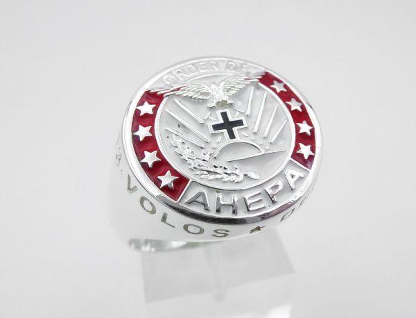 [:en]AHEPA Ring [:el]AHEPA Ασημένιο δαχτυλίδι[:]