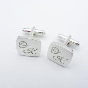 name initials cuff links